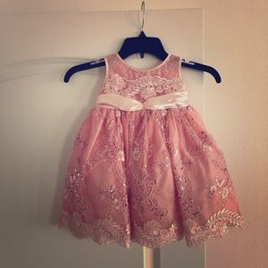 Flower girl dress. Rose Gold